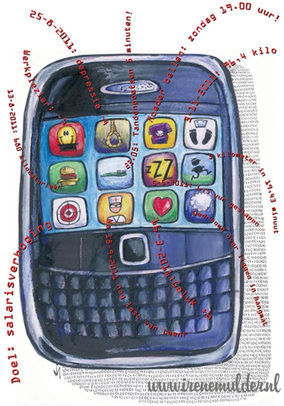 Mobiel vol app's die je gezondheid in de gaten houden.