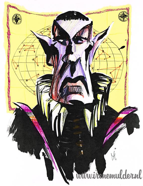 Illustratie van Mr Spock als tijdreiziger