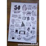 30 tekenopdrachten om de maand oktober door te komen